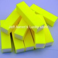 10 PCS Yellow Neon colors Nail Art Buffer Block Sanding File  Nail Care Tool beauty salon equipment