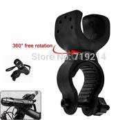 Bicycle Cycling LED Flashlight Bracket Torch Mount Antiskid Black 360 Degree Holder 10pcs/lot