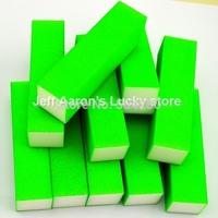 10 PCS Green Fluorescent color Nail Art Buffer Block Sanding File  Nail Care Tool beauty salon equipment