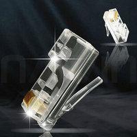 COB transparent super five crystal head RJ45 network cable 8P8C crystal head #F44
