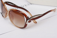 2014 new fashion vintage sunglasses Big round frame sun glasses Brand designer Retro glass 4 colors bow oculos de sol