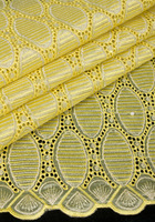 High quality organza lace fabric for wedding/party,african cloth dress fabric with stone in yellow,5 yards/piece,TKL1798
