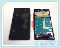 DHL Free shipping For Sony Xperia Z1 L39H Full LCD Touch Screen Assembly With Frame