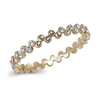 Rhinestone Gold Plated LUCKY Ripple Bracelet Women/Girl's Bangle Wholesale 1 Pc Fashion Jewelry
