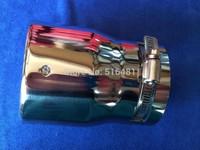 UNIVERSAL Tip 8.8cm Inlet Silver Stainless Steel Exhaust Resonator Muffler