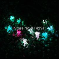 New 2014 SLST1 10 LED Colorful Stereoscopic Christmas Tree Solar String Lights innovative decoration led string lights