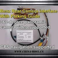 Rear camera Interface with parking guide for Benz A/B/C/E/G/GLK series after year 2012, support 360-degree panoramic camera