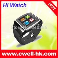 Cheap HI watch Smart Watch Phone Mtk6260  bluetooth  Smartphone synchronization anti-lost GSM watch phone, predometer, camera
