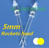 High quality Warm White Christmas strip led 3000-3500K Rocket head 5mm DIP LED(CE&Rosh)