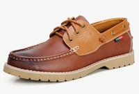 2014 Free shipping brand platform men suede leather shoes men fashion flat walking shoes outdoor footwear men driving shoes
