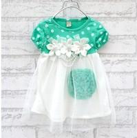 Lovely girl dress tutu sweet princess lace dots  Dresses