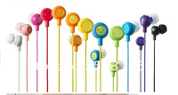 colorful smiling earphone earbud for mp3 or cellphone free shiping