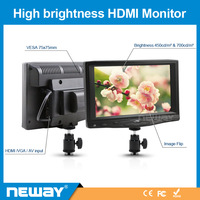 H719: Hot Sale 1024 x 768 Resolution 7 Inch Camera-top Field HDMI Monitor