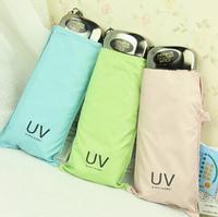 Free shipping 2014 new  Fashion  Candy colors  Manually  umbrella  UV Umbrella
