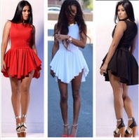 2014 New spring Summer White Sexy Women Bandage Mini Sun Dress, Celebrity Party Casual Dresses,Plus Size Women Prom Clothing223