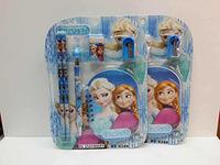 6388 New Style Frozen Anna Elsa Princess Pencil + Pencil Sharpener + Eraser + Ballpoint Pens  + Notebook Girls School Stationery