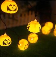 5m LED Light Halloween Props Haunted House Supplies Bar Decoration 20 LED Pumpkin String Light Fairy lights Festival Lamp