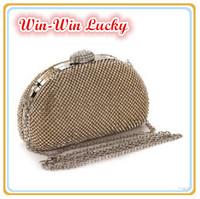 New Bling Rhinestone Evening Bag. Luxury Full Diamond Female Party Clutch Wedding Bridal Handbag. Chain Shoulder Messenger Bag
