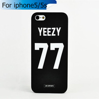 2014 New Arrival Fashion Style Yeezy No.77 Case for iPhone 5 5S hard cell phone case for iphone 5 s capa para for iphone 5s case