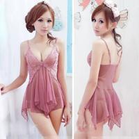 Sexy Lingerie Underwear Lace Nightgown Sleepwear Babydoll Nightdress G-String