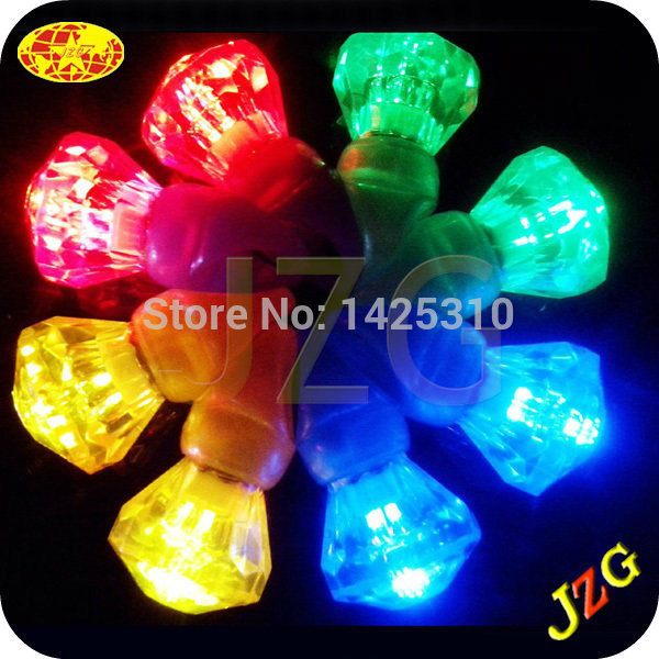 Party Decoration LED Laser Finger Gadget Beams Party / Nightclub Light Finger Lamp Ring Torch Color Diamond ring 250PCS/LOT(China (Mainland))