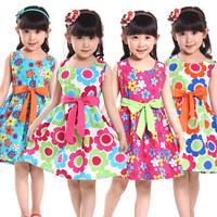 Girl clothes Children's clothing girl's cotton cartoon dress kids short sleeve lace one-piece Little Spring GTJ-Q0195