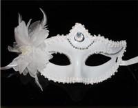 Hot Sale!5Pcs/Lot New Masque White flowers masks Snow White Princess Mask, Lovely Masquerade Mask FREESHIPPING
