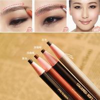 New 4 Colors Long Lasting Eyebrow Pencil Eye Brow Pen Dark Light/Dark Coffee Black