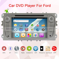 2 din 7 inch ,Android 4.2.2 car DVD player for Ford, built in GPS+Wifi+Bluetooth+USB+SD+Dual core 1GB CPU+DDR3 1GB +8GB Flash