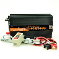 DC 24V to AC 220V DHL FEDEX shipping 2500W 5000 watt pure sine wave power inverter 2500 watt Remote converters
