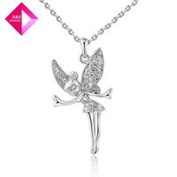 D&Z Austrian crystal platinum necklace female angel Fashion necklace series