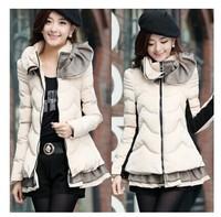 Korean fashion warm temperament big size down padded coat thick padded women coat down jacket for women warm winter coat