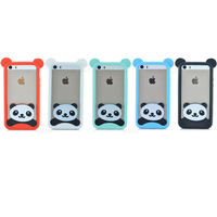 New Fashion Cartoon Animal panda soft cover cute phone case for iphone 5 5S PT1408
