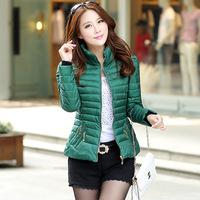 free shipping  New 2014 Jacket Winter Coat  Slim Female shirt Coat Women Parka Winter Coat 42