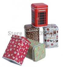 Storage Tin Box organizer Tardis Flower design decorative Tea box Leopard Girl favor Zakka Novelty household Storage(China (Mainland))