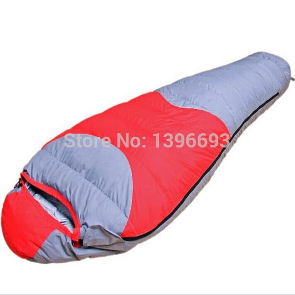 High quality sleeping bag (-30degree),mummy camping sleeping bag,1500g down sleeping bag, Free Shipping(China (Mainland))