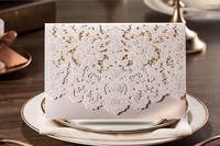 Elegant Lace Invitation Card Laser cut customized wedding party invitation,delicate greeting kit,100set, Express Free shipping