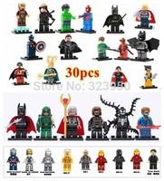 Decool 30PCS super hero avengers deadpool green arrow building blocks Minifigures Bricks baby toys for children
