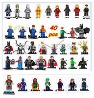 DECOOL 40pcs Super Heroes Avengers marvel future foundation Green Lantern green arrow deadpool Minifigures building Blocks Toys