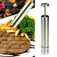 Superb! Thumb Salt Pepper Grinder Spice Sauce Stainless Steel Mill Grind Stick Free Shipping&Wholesale Alipower