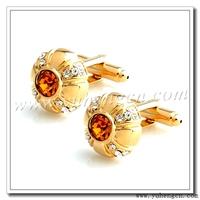 Free shipping YH-1726GL  New Elegant  Gold Rhinestone Cufflinks, Crystal Cufflinks- Factory Direct Selling