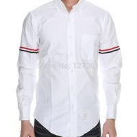 2014 New thom browne high-quality long-sleeved men's shirt