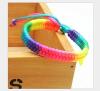 Small gifts hand woven lucky this animal year evil Phoenix Tail knot red rope bracelets colorful Rope Bracelet