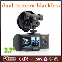 Dual Camera Car DVR with GPS Logger and G-sensor