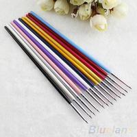Popular 12Pcs Nail Art Designer Pen Pencil Brush Painting Dotting Acrylic Tool  B02