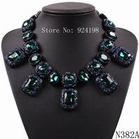 fashion 2014 new latest design brand crystal pendant big chunky necklace for women luxury statement choker collar jewelry