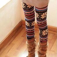Autumn fashion knitting wool snow fawn nine minutes of pants leggings