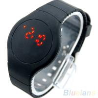 Women Men Cool Unisex Ultra-thin Sport Touch LED Digital Round Dial Bracelet Wrist Watch  B02