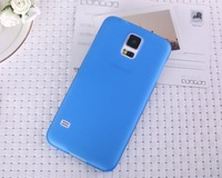 100pcs/lot Free shipping, 0.3mm Ultra-thin Frosted mobile phone case cover for Samsung Galaxy S5 i9600 Skin Shell 10 colors