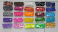 26colors to choose DIY loom bands rubber bands 600pcs+24 S clips colorful bracelet xmas gift 500pakcs/lot